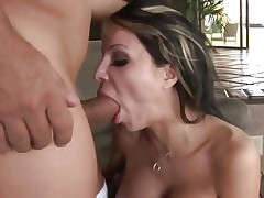 Danielle Derek face hole fucks a unbending skin flute
