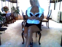 MILF disrobes down to her firm and sexy body and masturbates