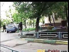 Public panty wetting