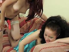 Melanie&Rita stockings lesbo action