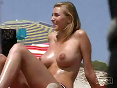 This summer I managed record so many amateur sex videos with barefaced beauties getting suntanned topless and demonstrating boobs on the beach