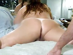 Non-professional anal and DP video