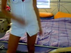 Nurse Undresses On Live CAm Fans
