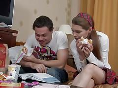russian schoolgirl getting her nipps sucked