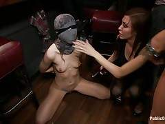 lady in mask receives punished