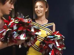 cute asian cheerleader receives a nasty treatment