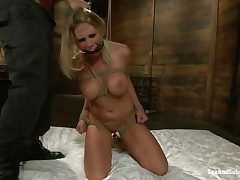 blonde sweetheart bound abased and fucked in the mouth hardcore
