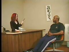 redhead midget honey and a large darksome man