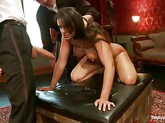 brunette bitch gets screwed but wants to suck