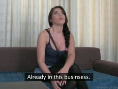 Large tits Bijou is smitten by the hardness of stud's male knob
