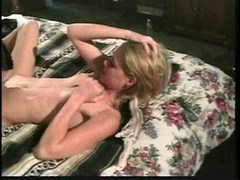 Golden-haired and black-flat and firm titted angel