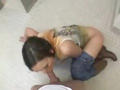 Screwed on the bathroom floor