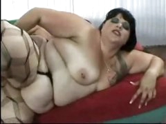 Fat fuck in nylons fucked in the ass
