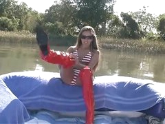 Handjob on a boat from indeed pretty angel