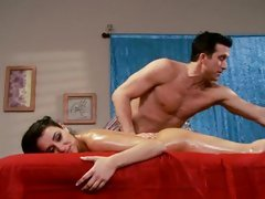 Sassy Charley Pursue gets a hot rub down from a hunk