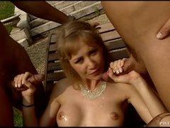 Big Breasted MILF In Underware Fucked Hard In Threesome