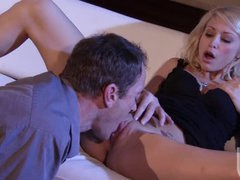 Sexy Tattooed Blonde Monique Alexander Gets Fucked and Covered In Jizz