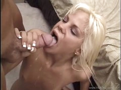 Sexual Shay Sweet gets her face hole filled with warm semen